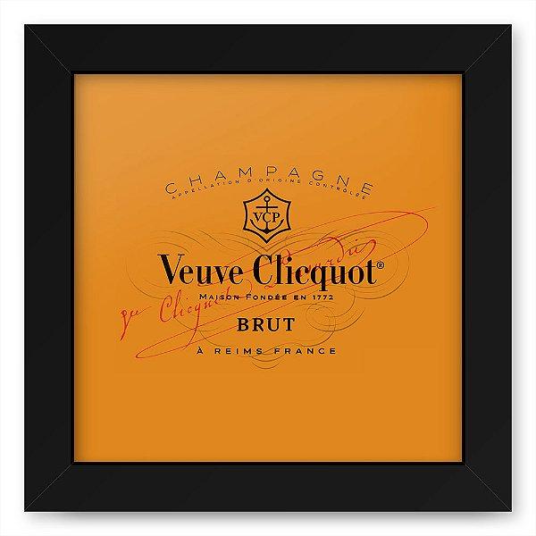 Quadro 20x20 Bebidas Champagne Veuve Rotulo Brut