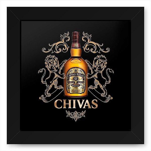 Quadro 20x20 Bebidas Wiskey Chivas Garrafa