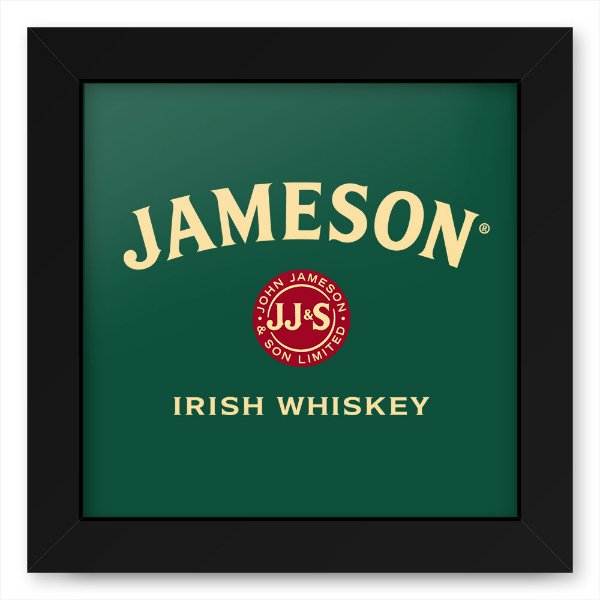 Quadro 20x20 Bebidas Wiskey Jameson