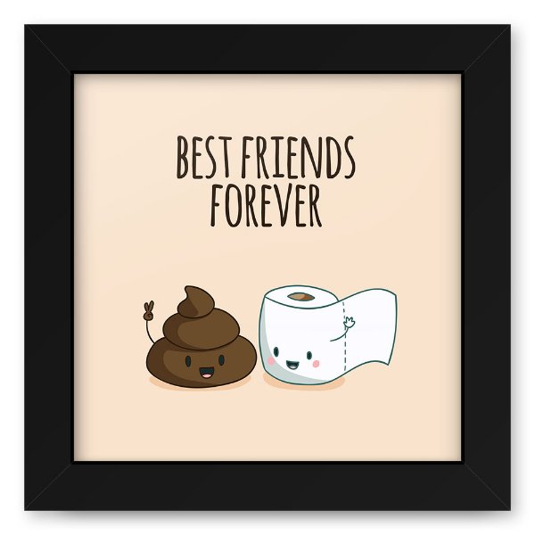 Quadro 20x20 Best Friends Poop