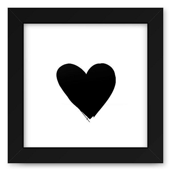Quadro 20x20 Blacks Heart