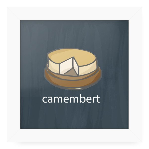 Quadro 20x20 Cheese Card Cramembert