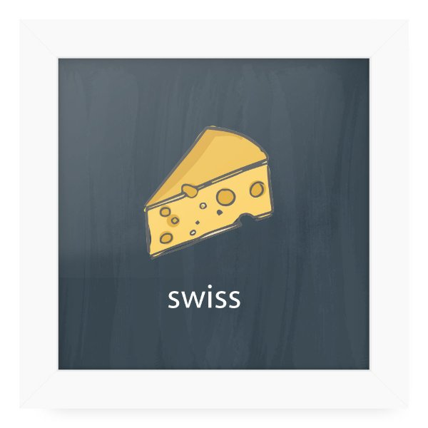 Quadro 20x20 Cheese Card Swiss