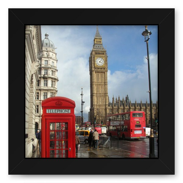 Quadro 20x20 Cidades Cabine Londre