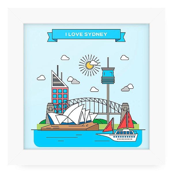 Quadro 20x20 Cidades Love Sidney