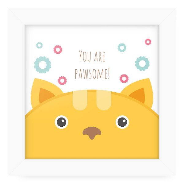 Quadro 20x20 Cute Animals Cat2