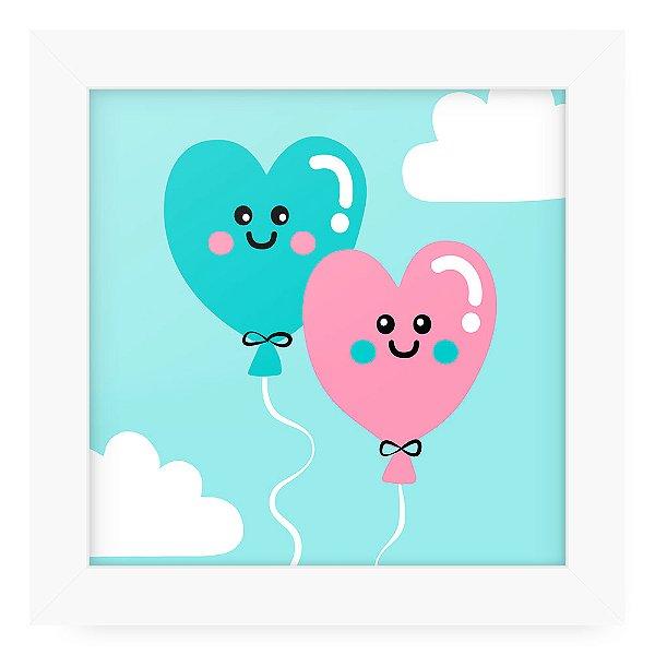 Quadro 20x20 Cute Love Ballons