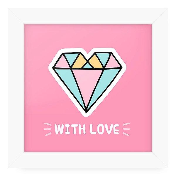 Quadro 20x20 Cute Love Diamond