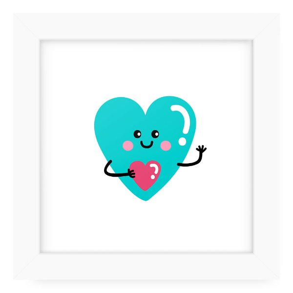 Quadro 20x20 Cute Love Heart In Love
