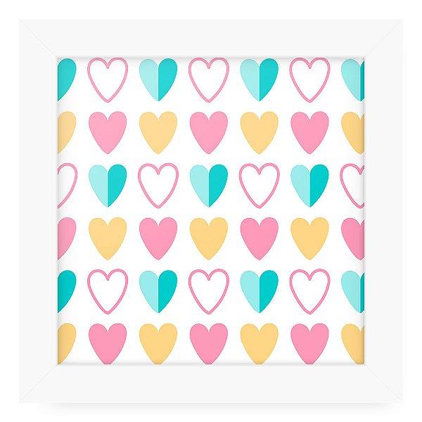 Quadro 20x20 Cute Love Hearts