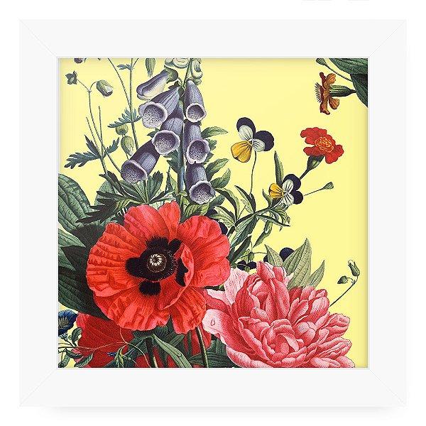 Quadro 20x20 Floral Vetor