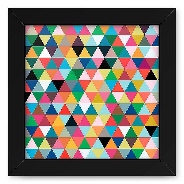 Quadro 20x20 Geometrico Triangulos