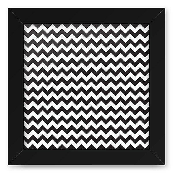 Quadro 20x20 Geometrico Zig Zag