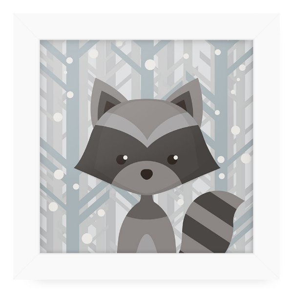 Quadro 20x20 Grey Animals Raposa