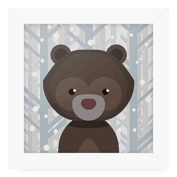 Quadro 20x20 Grey Animals Urso