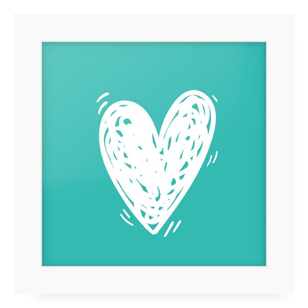 Quadro 20x20 Love Happy Heart