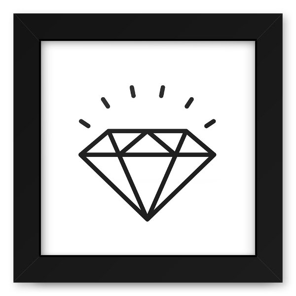 Quadro 20x20 Love Lines Diamond