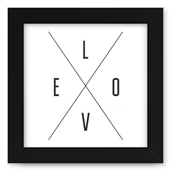 Quadro 20x20 Love Lines Love X