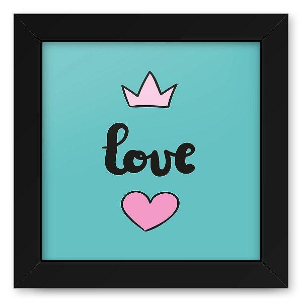 Quadro 20x20 Love Style Love King