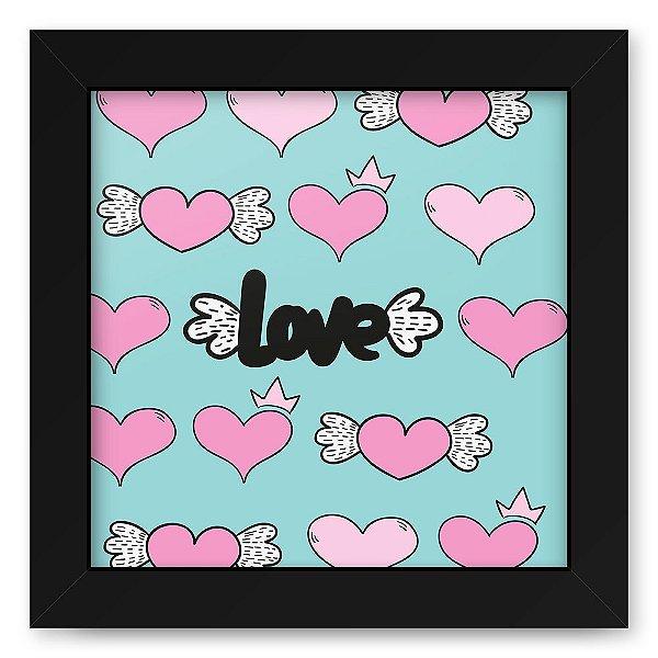 Quadro 20x20 Love Style Love Texture