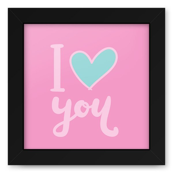 Quadro 20x20 Love Style Love You