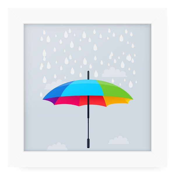 Quadro 20x20 Rain Over Umbrella