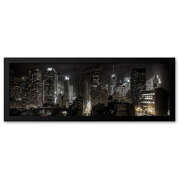 Quadro 60x20 Cidade à Noite