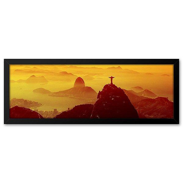 Quadro 60x20 Cristo final de tarde no Rio de Janeiro