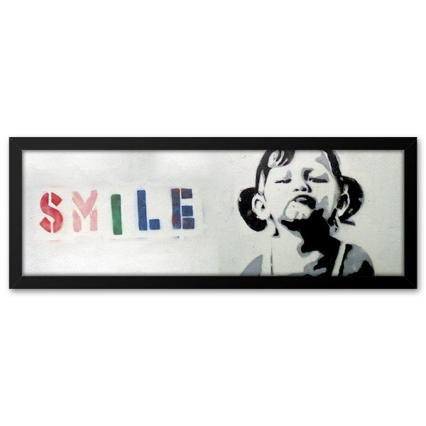 Quadro 60x20 Grafite Smile