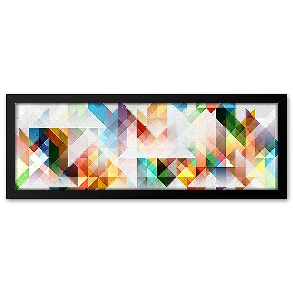 Quadro 60x20 Geométrico branco