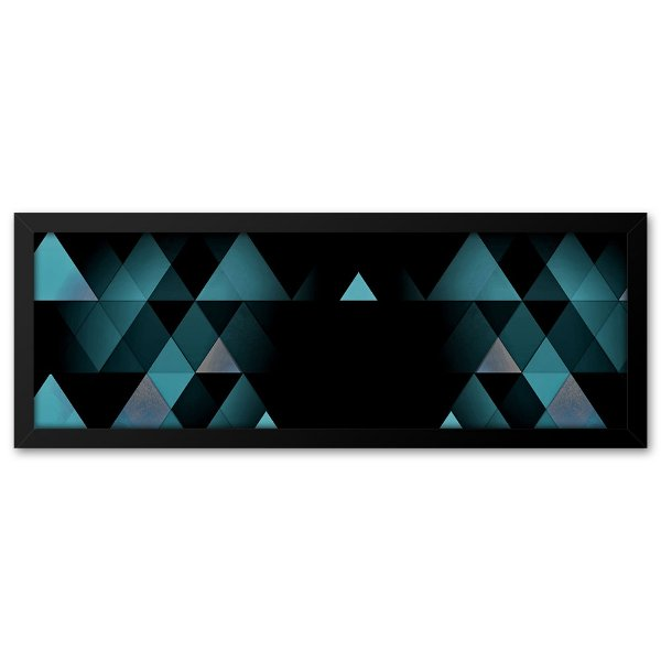 Quadro 60x20 Geométrico azul