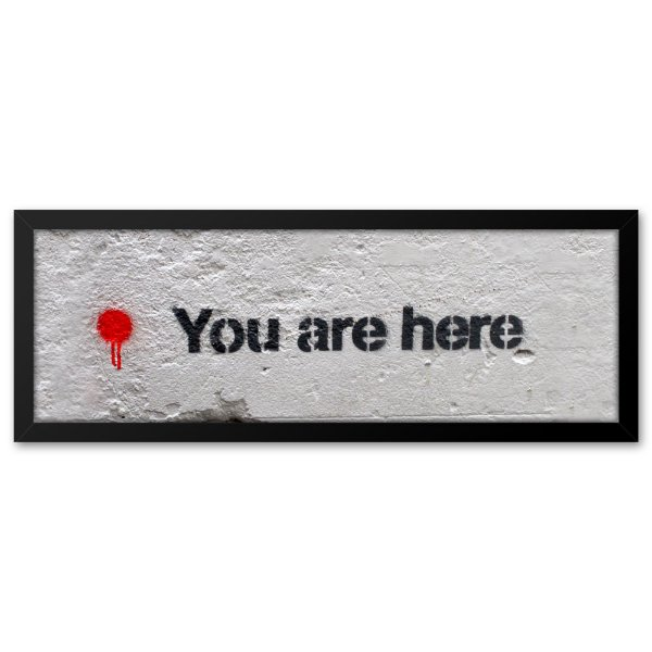 Quadro 60x20 Grafite You Are Here