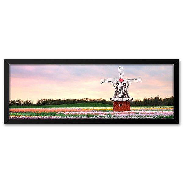 Quadro 60x20 Moinho na Holanda
