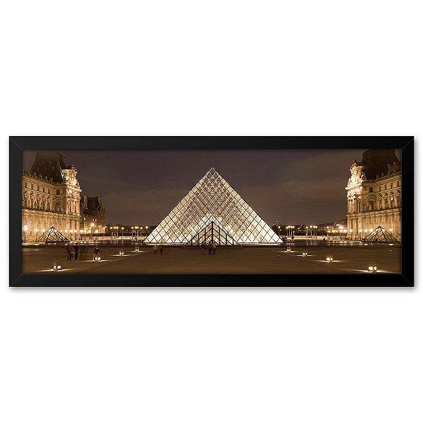Quadro 60x20 Museu do Louvre Paris