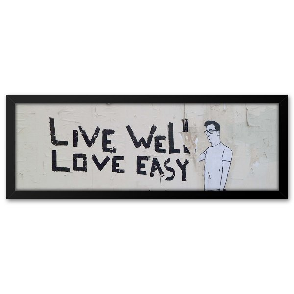 Quadro 60x20 Grafite Love Easy