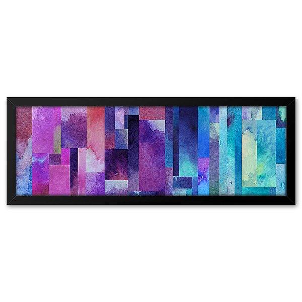 Quadro 60x20 Abstrato Quadrados
