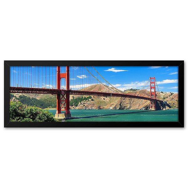 Quadro 60x20 Ponte Golden gate em São Francisco