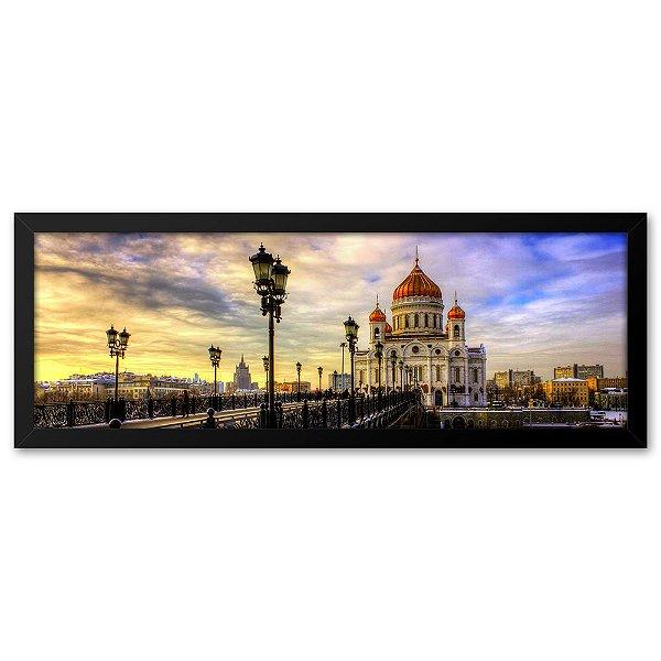 Quadro 60x20 Capela em São Petersburgo, Rússia