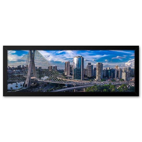 Quadro 60x20 Cidade de São Puaulo, Ponte Estaiada