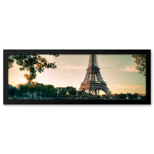 Quadro 60x20 Paisagem Torre Eiffel Paris