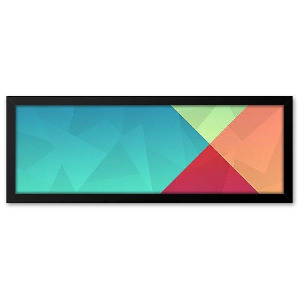 Quadro 60x20 Abstrato Triangulos