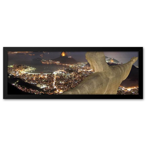 Quadro 60x20 Vista do Cristo Redentor, Rio de janeiro