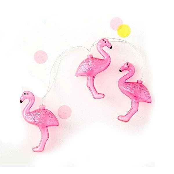 Cordão de Luz Adoraria Flamingo Rosa