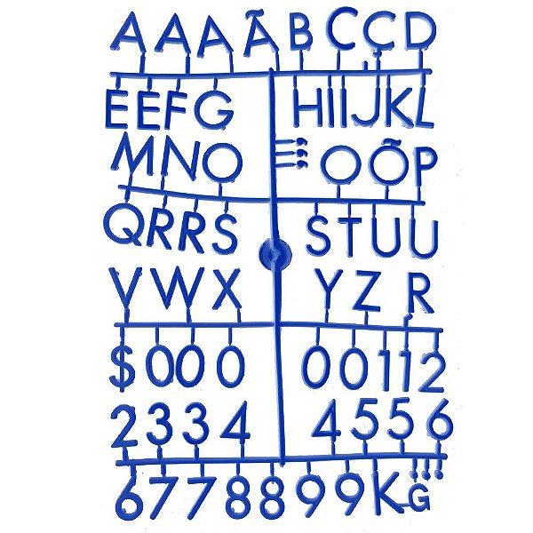 Conjunto de Letras Azuis