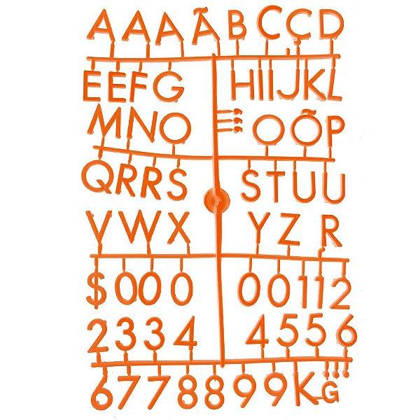 Conjunto de Letras Laranjas