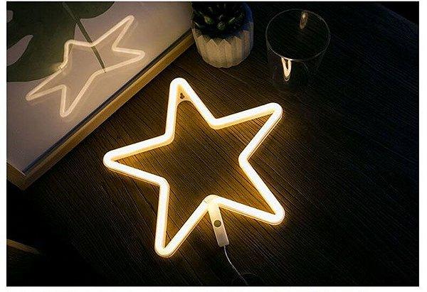 Luminária Neon Estrela