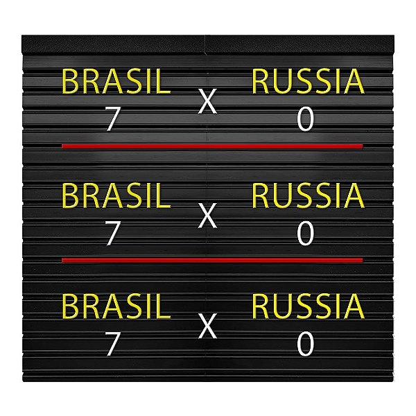 Placa de Letras Placar da Copa Brasil