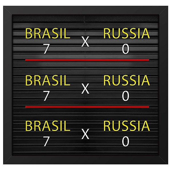 Placa de Letras Placar da Copa Brasil com Moldura