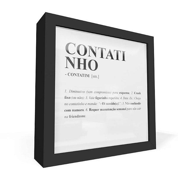 Quadro Caixa Frontal Dicionario Contatinho