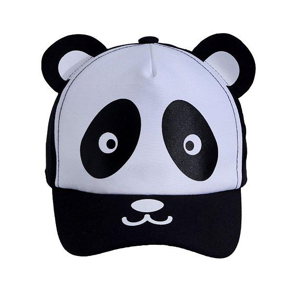 Boné bebê panda